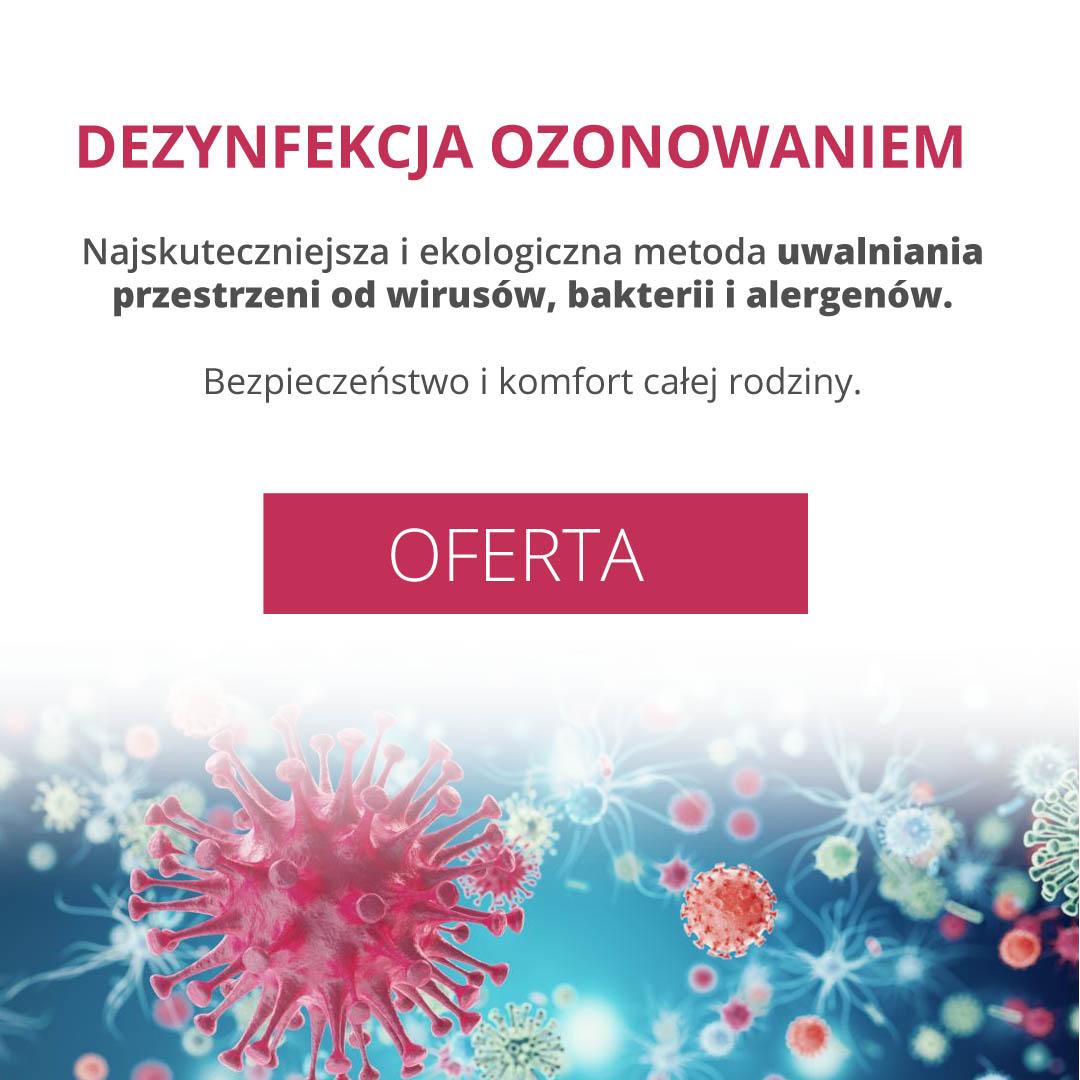 Dezynfekcja ozonowaniem Bielsko Biała, Ozonowanie, Usuwanie bakterii i wirusów